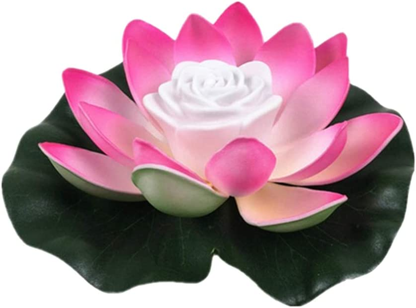 Indianapolis Mall Cacowap Artificial Led latest Waterproof Floating Light Lotus Battery