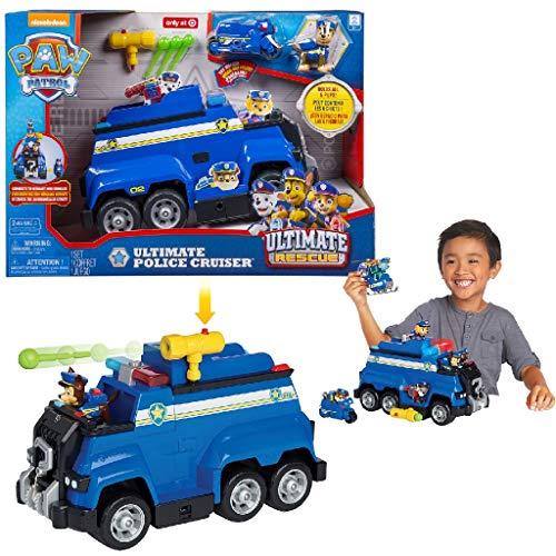 Spin Master Paw Patrol Ultimate Police Rescue Cruiser Veicoli Giocattolo (Blu, Camion, Indoor, 3 Anno/i, Bambino, Cina)