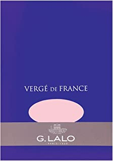 Verge de France by G. Lalo Writing Tablet, 50 Sheets of 100g Rose Paper, 5.75 by 8.25 inches