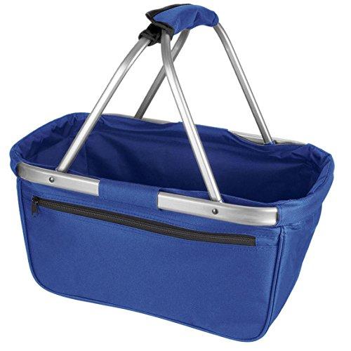 noorsk Einkaufskorb faltbar aus Stoff toll als Faltkorb Einkaufstasche oder Picknickkorb - Hellblau