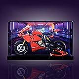 Nlne Vitrina Acrílico para Technic Ducati Panigale V4 R 42107, Caja De Exhibición A Prueba De Polvo (NO Incluido El Modelo Lego),C