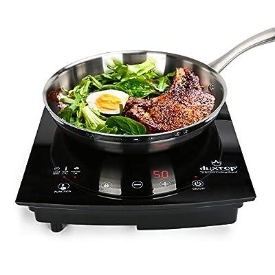 duxtop 8310 1800W Portable Induction Cooktop Countertop Burner, Black