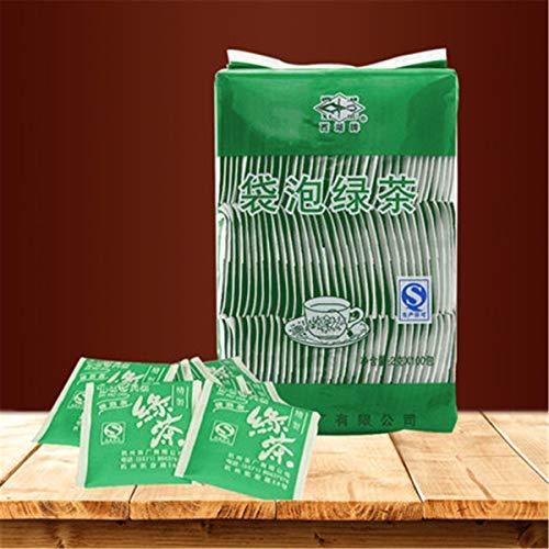 2g * 100 bolsitas de té (0.44LB) té verde Té de dragón Té crudo té nuevo té chino fresco comida de primavera té verde saludable