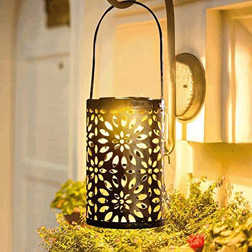 Topwor Farol solar luces de jardín para colgar al aire libre, luces de jardín IP55, impermeable, LED, iluminación decorativa solar para porche, patio, patio