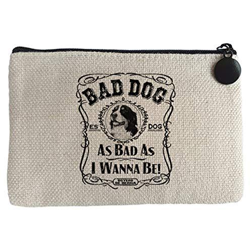 Diver Bebé Monedero frase perro raza Boyero de Berna Bad dog as bad as I wanna be - Beige, 15 x 10 cm