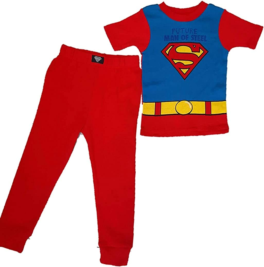 SuperMan Justice League DC Comics 2 Piece Boys Pajama Set