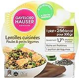 Gayelord Hauser Diététicien Plat Cuisiné Lentilles et Poulet 300 g - Lot de 3