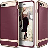 Caseology Wavelength for Apple iPhone 8 Plus Case (2017) / for iPhone 7 Plus Case (2016) - Stylish Grip Design - Burgundy