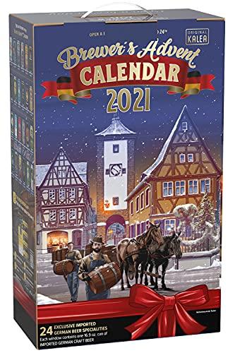 KALEA Bier Adventskalender 2021, deutsche Biere in der Dose 0.5l, Biergeschenk zur Vorweihnachtszeit