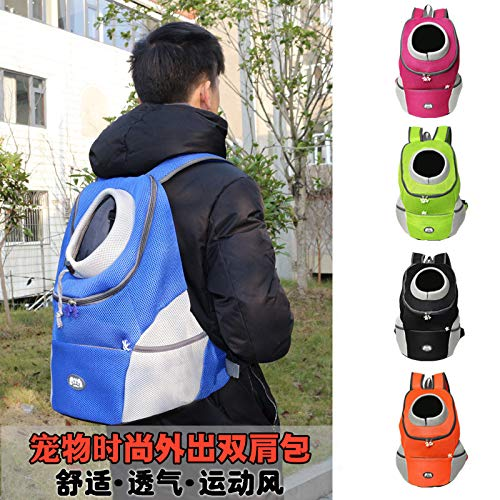 CJDCJ Fashion Pet Outing Backpack Shoulder Bag Outing Carrying Bag Dog Supplies Orange M (36X31X17Cm)