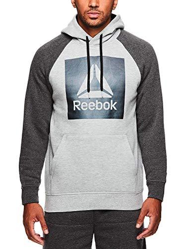 Reebok Men's Performance Pullover Hoodie – Graphic Hooded Activewear Sweatshirt