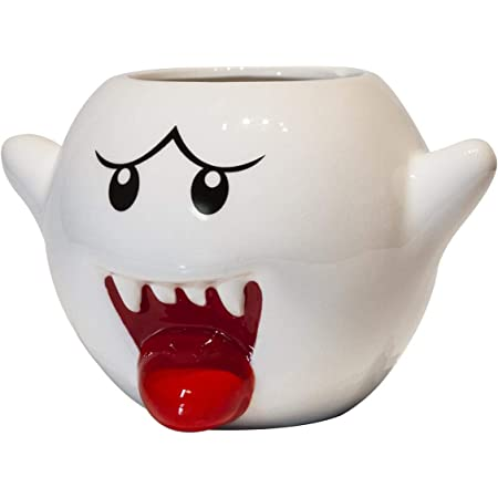 Super Mario Bros Vintage White Boo Molded Coffee Mug   20 Ounce
