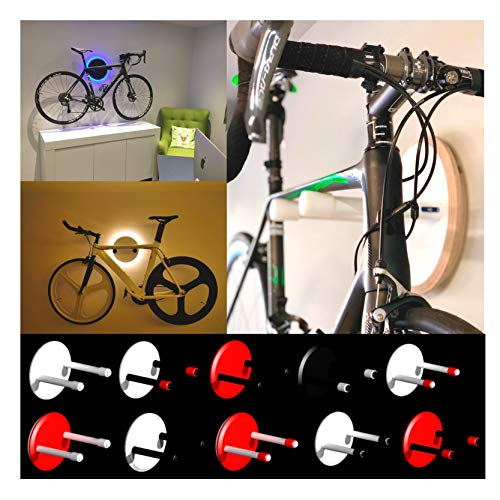 Clipboart® konfigurierbare und drehbare Wandhalterung auch aus Karbon für Rennräder, Fixies, Fahrräder, Bikes Halterung Wandmontage Wandhalter Halter Karbonrahmen Clipboard Wunschfarbe Holz