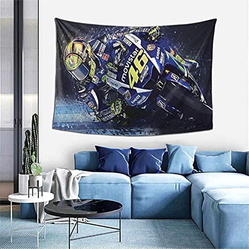 Valentino-Rossi - Tapiz hippie grande, mandala bohemio, decoración psicodélico, tapices para colgar en la pared, mandala