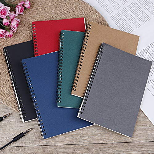 Xgood 6 Colors Spiral Notebook Colorful Spiral Notebooks Student Spiral Journal Notebook Soft-cover Notebook for Students School Office Working Supplies Photo #5