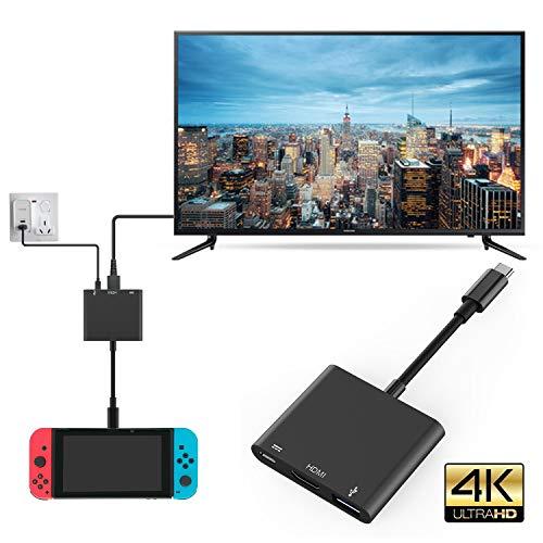 Nintendo Switch HDMI type C adaptateur hub, 1080p hub USB C HDMI câble convertisseur pour Nintendo Switch, MacBook Pro 2018, Samsung Galaxy S10 Plus, Google Pixel