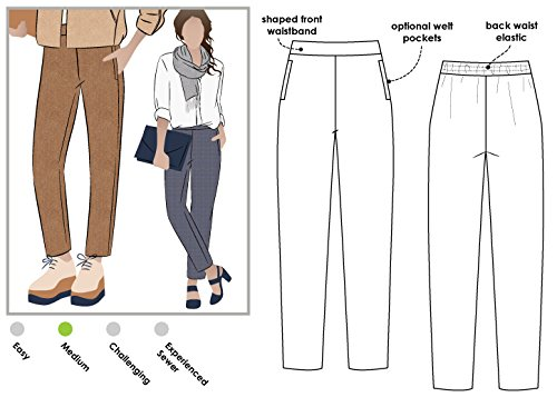 Stil Arc Schnittmuster–Talia Woven Pant, Sizes 18-30