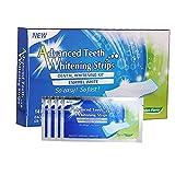 EElabper Los Dientes 28pcs / 14Pair Blanca Gel blanqueador Pega Tiras Atención de higiene Oral Doble elástico de Dientes blanqueadoras dentales blanqueadoras Herramientas