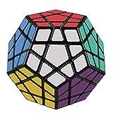 D-FantiX Shengshou Megaminx Speed Cube 3x3 Dodecahedron Hexagon Puzzle Toy Black