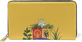 Venezuela - Presidential Flag Genuine Leather Wallet Case Credit Card Holder Travel Purse With Zipper Pocket For Women