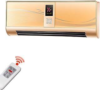 Radiador eléctrico MAHZONG 2500W Control Remoto de la Puerta eléctrica Superior e Inferior Calentador de Ventilador cálido Aire frío Viento Pantalla LED de la Puerta eléctrica