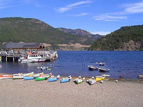 Houten puzzel 1000 stukjes,Puzzel voor volwassenen Kinderen Lacar Lake Boot Dock Houten dierenpuzzels voor peuters