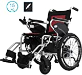 WRJY Electric Wheelchair, WheelChair Foldinsg, Power Wheelchair Dual Control System, Lightweight Manual Electric