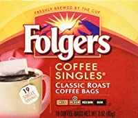Folgers Coffee Singles Classic Roast-19 Coffee Bags by Folgers
