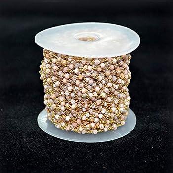 NBEADS Fili di Perline 5 Filo 1000 /× 6mm Perle di Vetro Nero Rotondo con Catena di Ferro Platino per Creazione di Bracciale Collana Orecchino Gioielli