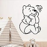 wZUN Exquisito Oso decoración del hogar Pegatinas de Pared Papel Pintado para niños habitación calcomanía Pegatinas de Pared Cartel Dormitorio calcomanía Mural 33X43cm