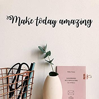 Vinyl Wall Art Decal - Make Today Amazing - 2.5  x 18  - Modern Inspirational Positive Quote Sticker for Home Office Bedroom Kids Room Playroom Coffee Shop Decor