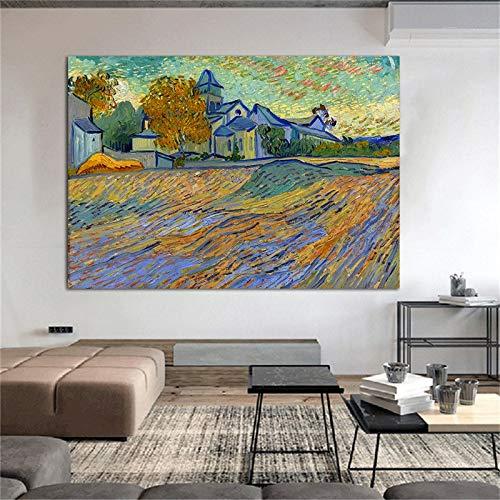 wZUN Famoso reproducción de Van Gogh Lienzo Pintura al óleo Carteles e Impresiones murales Sala de Estar imágenes decoración del hogar Arte 40x50 cm