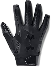 Under Armour mens F6 Football Gloves Black (002)/Black Large