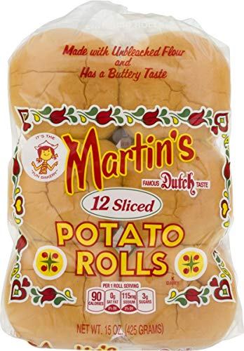 Martin's Sliced Potato Rolls- 12 pk 15 oz (2 bags)