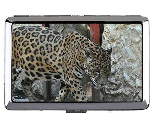 Zigarettenetui Box, Jaguar Leopard Tasche mit Zigarettenetui