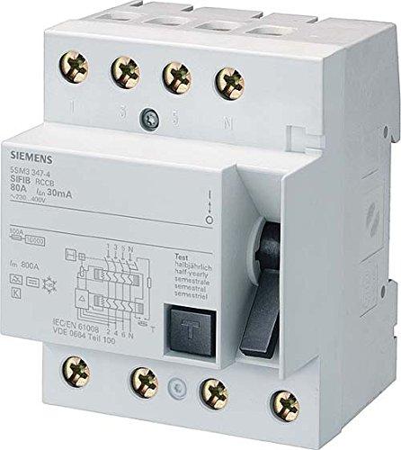 Siemens 5SM3646-4 FI-Schutzschalter, 4-polig, Typ B