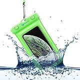 Power Theory wasserdichte Handyhülle - Wasserfeste Handytasche Handyschutz Cover Beutel Beachbag Tasche Handy Hülle Waterproof Hülle - iPhone X/XS 8 7 6s Samsung S10 S9 S8 S7 & viele mehr (Grün)