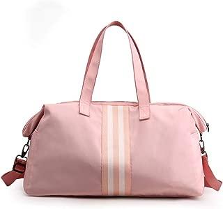 Bageek Sports Duffel Bag Adjustable Strap Gym Bag Sports Fitness Bag Tote Bag (Pink)