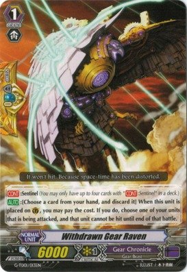 Cardfight!! Vanguard TCG - Withdrawn Gear Raven (G-TD01/013EN) - G Trial Deck 1: Awakening of The Interdimensional Dragon