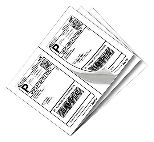 "SJPACK 1000 Half Sheet Self Adhesive Shipping Labels 8.5"" x 5.5"" Address Labels for Laser & Inkjet Printers"