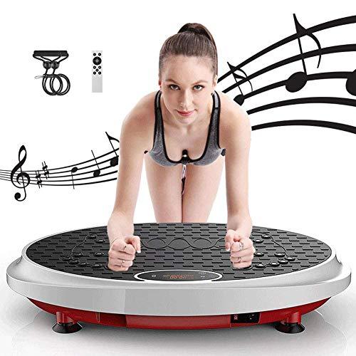 DZKU Vibrationsplatte Testsieger Vibrationsgeräte Fläche rutschfest, Ganzkörper-Fitness-Übungsplatte, Gewichtsverlust Shaping, 99 Geschwindigkeit, Fernbedienung, LCD-Display, Last 150kg
