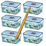 wns-emg-world Lock & Lock Frischhaltedosen Set 6-teilig HPL 811, je 600 ml