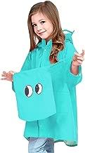 Felice Kids Cute Raincoat Dinosaur Raincoat Hood Jacket Poncho Rainwear Slicker for Children