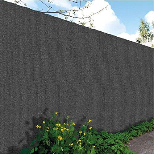 PEGANE Brise Vue, Toile HDPE 300gr au m2 en PVC Double Face en Rouleau de 3 m Coloris Gris Anthracite, 2,00 m x 10 m