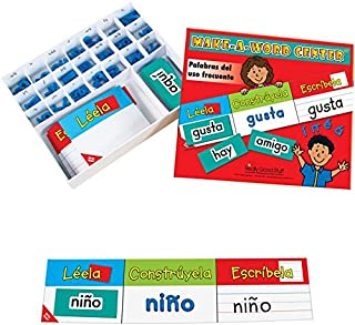 Really Good Stuff Make-a-Word Center: Spanish High- Frequency Words – Helps Students Master High-Frequency Word Recognition – Students Read, Build, and Write Spanish High-Frequency Words