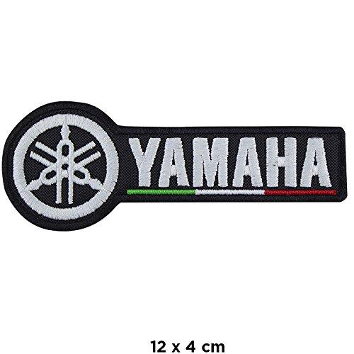 Parche termoadhesivo para Yamaha Moto Tricolor, bordado, réplica – 1258