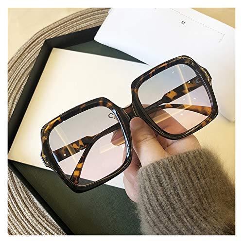 AleXanDer1 Gafas de Sol Gafas de Sol cuadradas Grandes Señoras Ojos Hombres Gafas de Sol de Gran tamaño de Gafas de Moda (Lenses Color : Leopard)