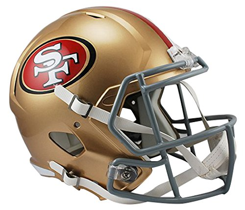 Riddell NFL San Francisco 49ers Full Size Replica Speed Helm, Medium, Gold
