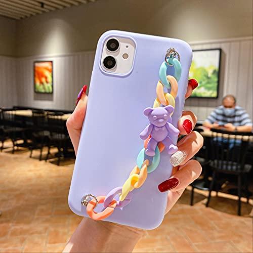 Casse del telefono3D Rainbow BraceletMacaron Candy Bear per iPhone 11 12 Pro XS MAX X XR 7 8 Plus SE2020 Cover posteriore morbida Coque Funda per iphone 12 A