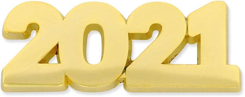 PinMart Gold Year 2021 School, Graduation, New Years, Anniversary Lapel Pin